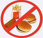 Fastfood is acidic as well as being loaded with sugar and saturated fats.
