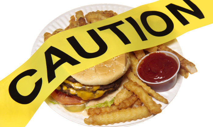 Fastfood is acidic and high in saturated fats.