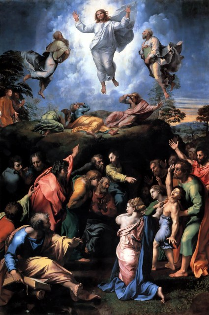 A painting by Raphael, The Transfiguration, 1516-1520; Jesus casting out a demon.