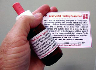 Elemental Healing Essences are all supplied with dosage instructions.