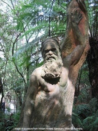 Image of sculpture from William Ricketts Sanctuary in Victoria, Australia. Understanding Lore, is understanding we are all connected by Spirit.